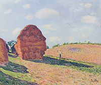 Stack of wheat, 1895, sisley