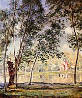 Sunny Afternoon Willows by the Loing, 1890, sisley