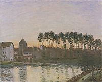 Sunset at Moret, 1877, sisley