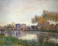 Sunset at Moret, 1888, sisley