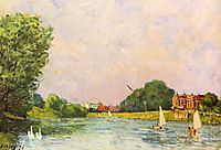Thames at Hampton Court, 1874, sisley