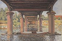 Under the Bridge at Hampton Court, 1874, sisley