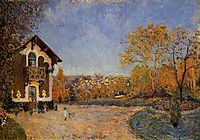 View of Marly le Roi from House at Coeur Colant, 1876, sisley
