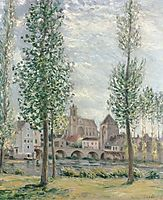 View of Moret sur Loing through the Trees, 1892, sisley