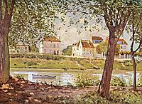 Village on the banks of the Seine, 1872, sisley