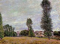 The Village of Moret, Seen from the Fields, 1886, sisley