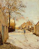 A Village Street in Winter, 1893, sisley