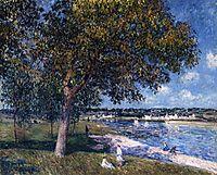 Walnut Tree in a Thomery Field, 1880, sisley