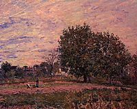 Walnut Trees, Sunset Early Days of October, 1882, sisley