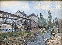 Watermill near Moret by Alfred Sisley, sisley