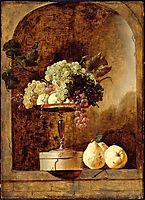 Grapes, Peaches and Quinces in a Niche, snyders