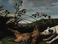 Greyhound Catching a Young Wild Boar, snyders