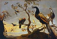 Group of Birds Perched on Branches, c.1630, snyders