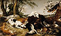Hounds Bringing down a Boar, snyders