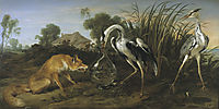 Sable of the Fox and the Heron, 1657, snyders