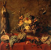 Still Life of Fruit in a Basket , snyders