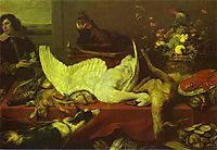 Still Life of Game and Shellfish, snyders