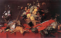 Still Life With A Basket Of Fruit, 1635, snyders