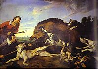 The Wild Boar Hunt, c.1640, snyders