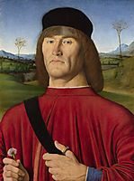 Man with a Pink Carnation, c.1495, solario