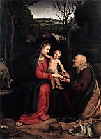 Rest during the Flight to Egypt, 1515, solario