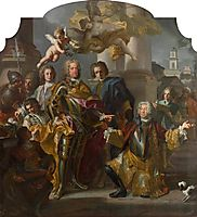 Gundaker Count Althann Handing over to the Emperor Charles VI (Charles III of Hungary) (1685-1740), 1728, solimena