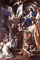 St. Bonaventura Receiving the Banner of St. Sepulchre from the Madonna, 1710, solimena