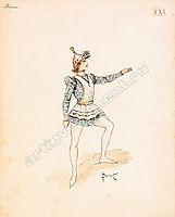 Design of male medieval costume, solomko