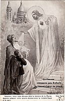 France blesses his children before the Sacred Heart of Jesus, solomko