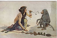 The girl with monkey, solomko
