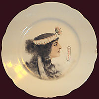 Plate -Egyptian Queen-, solomko