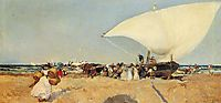 Arrival of the Boats, 1898, sorolla