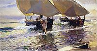 The arrival of the boats, 1907, sorolla