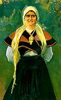 Asturian girl, sorolla