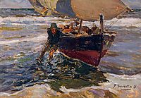 Beaching the Boat (study), 1908, sorolla