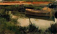 Boat in Albufera, sorolla