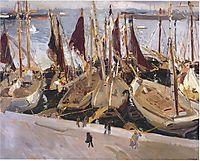 Boats in the Port, Valencia, sorolla