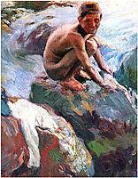 Boy on the Rocks, Javea, sorolla