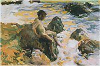 Boy in Sea Foam, 1900, sorolla