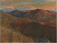 The cemetery at Sierra Nevada, Granada, 1910, sorolla