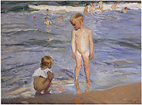 Children bathing in the afternoon sun, 1910, sorolla