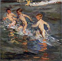 Children at the beach, 1899, sorolla