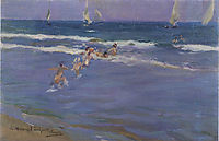 Children in the sea, sorolla