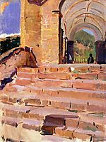 Church Roncal stairs, sorolla