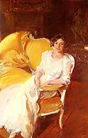 Clotidle sitting on the sofa, 1910, sorolla