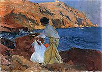 Clotilde and Elena on the Rocks at Javea, sorolla