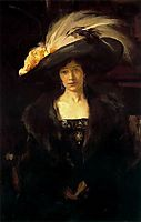 Clotilde with hat, sorolla