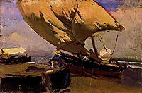 Dragging the trawler, 1904, sorolla