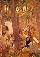 The Elche palm grove, 1918, sorolla