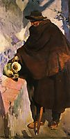 Elderly Castellano Pouring Wine, 1907, sorolla